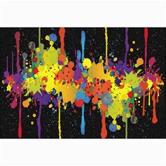 Crazy Multicolored Double Running Splashes Horizon Collage Prints by EDDArt