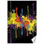 Crazy Multicolored Double Running Splashes Horizon Canvas 12  x 18