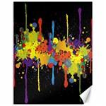 Crazy Multicolored Double Running Splashes Horizon Canvas 18  x 24