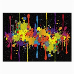Crazy Multicolored Double Running Splashes Horizon Large Glasses Cloth (2 Side) by EDDArt