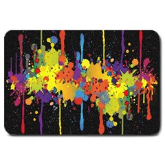 Crazy Multicolored Double Running Splashes Horizon Large Doormat  by EDDArt