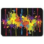 Crazy Multicolored Double Running Splashes Horizon Large Doormat