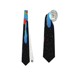 Crazy Multicolored Double Running Splashes Horizon Neckties (two Side)  by EDDArt