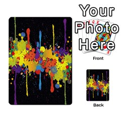 Crazy Multicolored Double Running Splashes Horizon Multi Purpose Cards (rectangle)  by EDDArt