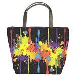 Crazy Multicolored Double Running Splashes Horizon Bucket Bags