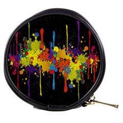 Crazy Multicolored Double Running Splashes Horizon Mini Makeup Bags by EDDArt