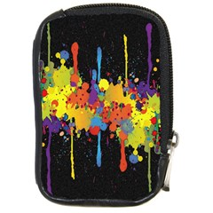 Crazy Multicolored Double Running Splashes Horizon Compact Camera Cases by EDDArt