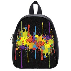 Crazy Multicolored Double Running Splashes Horizon School Bags (small)  by EDDArt