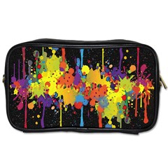 Crazy Multicolored Double Running Splashes Horizon Toiletries Bags by EDDArt