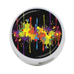 Crazy Multicolored Double Running Splashes Horizon 4 Port Usb Hub (one Side) by EDDArt