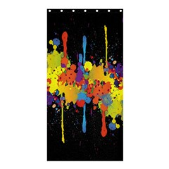 Crazy Multicolored Double Running Splashes Horizon Shower Curtain 36  X 72  (stall)  by EDDArt