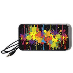 Crazy Multicolored Double Running Splashes Horizon Portable Speaker (black)  by EDDArt