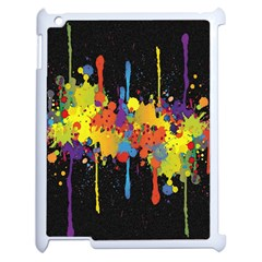 Crazy Multicolored Double Running Splashes Horizon Apple Ipad 2 Case (white) by EDDArt