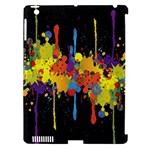 Crazy Multicolored Double Running Splashes Horizon Apple iPad 3/4 Hardshell Case (Compatible with Smart Cover)