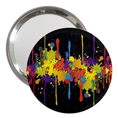 Crazy Multicolored Double Running Splashes Horizon 3  Handbag Mirrors by EDDArt