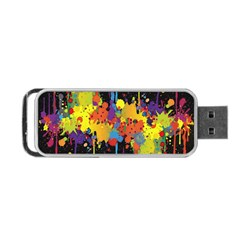 Crazy Multicolored Double Running Splashes Horizon Portable Usb Flash (two Sides) by EDDArt