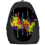 Crazy Multicolored Double Running Splashes Horizon Backpack Bag