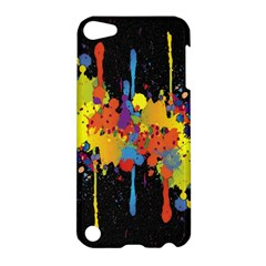 Crazy Multicolored Double Running Splashes Horizon Apple Ipod Touch 5 Hardshell Case by EDDArt