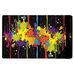 Crazy Multicolored Double Running Splashes Horizon Apple Ipad 3/4 Flip Case by EDDArt