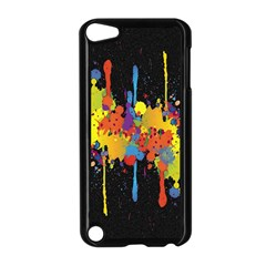 Crazy Multicolored Double Running Splashes Horizon Apple Ipod Touch 5 Case (black) by EDDArt