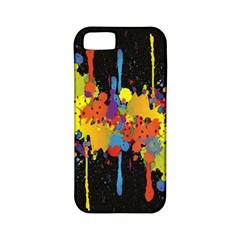 Crazy Multicolored Double Running Splashes Horizon Apple Iphone 5 Classic Hardshell Case (pc+silicone) by EDDArt