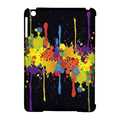 Crazy Multicolored Double Running Splashes Horizon Apple Ipad Mini Hardshell Case (compatible With Smart Cover) by EDDArt