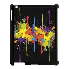 Crazy Multicolored Double Running Splashes Horizon Apple Ipad 3/4 Case (black) by EDDArt