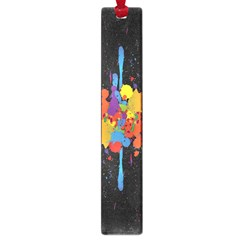 Crazy Multicolored Double Running Splashes Horizon Large Book Marks by EDDArt