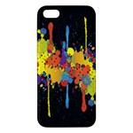Crazy Multicolored Double Running Splashes Horizon Apple iPhone 5 Premium Hardshell Case