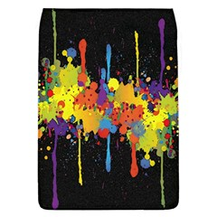 Crazy Multicolored Double Running Splashes Horizon Flap Covers (l)  by EDDArt