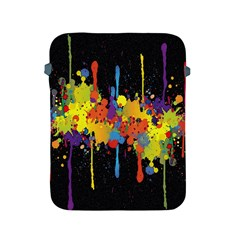 Crazy Multicolored Double Running Splashes Horizon Apple Ipad 2/3/4 Protective Soft Cases by EDDArt