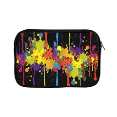 Crazy Multicolored Double Running Splashes Horizon Apple Ipad Mini Zipper Cases by EDDArt