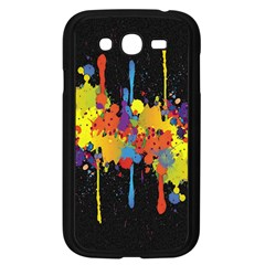 Crazy Multicolored Double Running Splashes Horizon Samsung Galaxy Grand Duos I9082 Case (black) by EDDArt