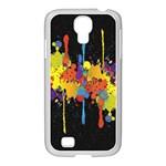 Crazy Multicolored Double Running Splashes Horizon Samsung GALAXY S4 I9500/ I9505 Case (White)