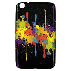 Crazy Multicolored Double Running Splashes Horizon Samsung Galaxy Tab 3 (8 ) T3100 Hardshell Case  by EDDArt