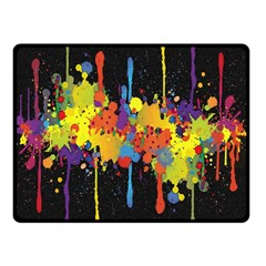 Crazy Multicolored Double Running Splashes Horizon Double Sided Fleece Blanket (small)  by EDDArt