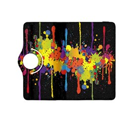 Crazy Multicolored Double Running Splashes Horizon Kindle Fire Hdx 8 9  Flip 360 Case by EDDArt