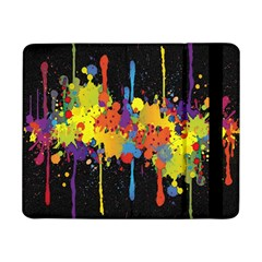 Crazy Multicolored Double Running Splashes Horizon Samsung Galaxy Tab Pro 8 4  Flip Case by EDDArt