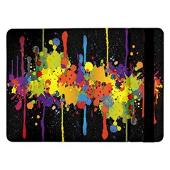 Crazy Multicolored Double Running Splashes Horizon Samsung Galaxy Tab Pro 12 2  Flip Case by EDDArt