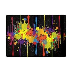 Crazy Multicolored Double Running Splashes Horizon Ipad Mini 2 Flip Cases by EDDArt