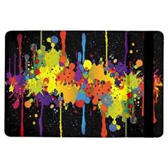 Crazy Multicolored Double Running Splashes Horizon Ipad Air Flip by EDDArt