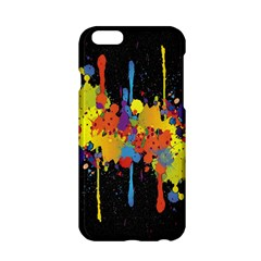 Crazy Multicolored Double Running Splashes Horizon Apple Iphone 6/6s Hardshell Case by EDDArt