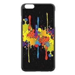 Crazy Multicolored Double Running Splashes Horizon Apple Iphone 6 Plus/6s Plus Black Enamel Case by EDDArt