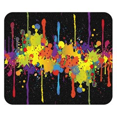 Crazy Multicolored Double Running Splashes Horizon Double Sided Flano Blanket (small)  by EDDArt