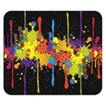 Crazy Multicolored Double Running Splashes Horizon Double Sided Flano Blanket (Small)