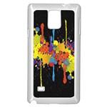 Crazy Multicolored Double Running Splashes Horizon Samsung Galaxy Note 4 Case (White)