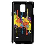 Crazy Multicolored Double Running Splashes Horizon Samsung Galaxy Note 4 Case (Black)