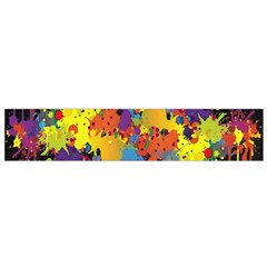 Crazy Multicolored Double Running Splashes Horizon Flano Scarf (small) by EDDArt