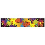 Crazy Multicolored Double Running Splashes Horizon Flano Scarf (Small)