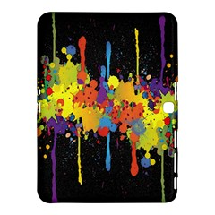 Crazy Multicolored Double Running Splashes Horizon Samsung Galaxy Tab 4 (10 1 ) Hardshell Case  by EDDArt